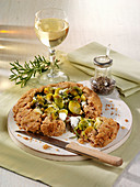 Vegetarian galette with Brussels sprouts