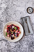 Beetroot and Feta Cheese Salad with Seeds