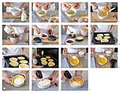 Preparing elderberry crème brûlée
