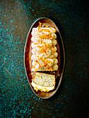 Mohn-Kastenkuchen mit Mandarinencreme