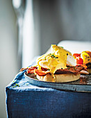 Poached Eggs with Cheat's Hollandaise Sauce
