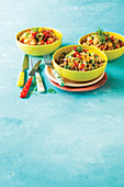 Egg-fried rice with Peas and Chilli
