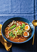 Tom Yum Soup with Boiled Eggs