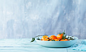 Still life of clementines in a bowl