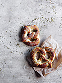Pretzels with salt and fennel
