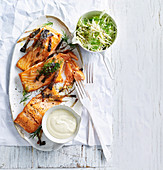 Ocean trout with Kohllrabi salad