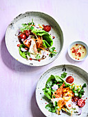 Thai Fried Egg Salad with Watercress, Onions and Chilli Lime Dressing