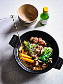 Chicken Meatball Donabe with Miso Sauce