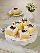 Vanilla pudding slices