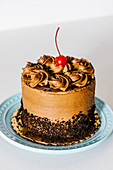 Small chocolate fudge cake
