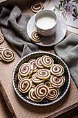 Black and white swirl cookies