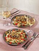 Turkey schnitzel with parsnip puree