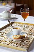 Espresso Coffee with Biscotti and Vin Santo