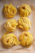 Homemade ribbon noodles