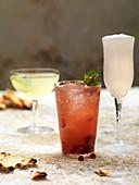Spiced Fruit Cocktails