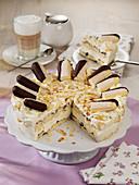 Malakoff cake with chocolate