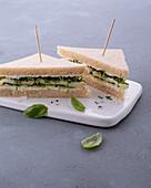 'Green Garden' cheese sandwich