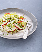 Chicory salad with apple and a kefir and chive dressing