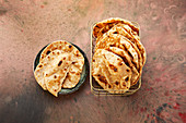 Wholemeal Indian chapatis