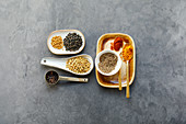 Ingredients for Indian sambar masala