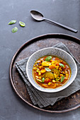 Quinoa vegetable stew with turmeric