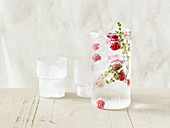 Thyme and raspberry water