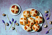 Traditional hot cross buns for Easter