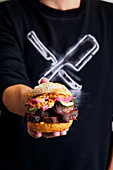Short rib roll burgers