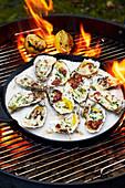 Spicy und smokey gegrillte Austern