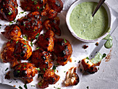Cauliflower wings with herb sauce