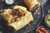 Chimichangas - deep fried burrito (Tex-Mex)