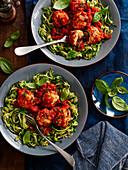 Courgetti with Turkey Meatballs in Tomato Sauce