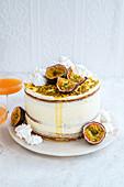 'Pornstar Martini Cake' with passion fruit and meringue