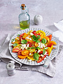 Tomato salad with oranges and feta