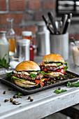 Vitello tonnato burger with veal and tuna mayonnaise