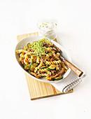 Gyros fusilli with zucchini