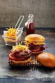 Crispy Bacon Blue Cheese Burger
