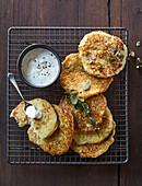 Potato pancakes with horseradish