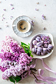 Lilacs and macarons