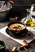 Autumn bread soup