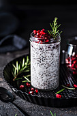 Chia pudding with pomegranate