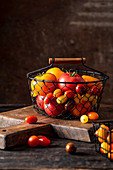 Fresh tomatoes, red and yellow