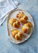 Yeast dough little birds