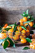 Tangerines in a basket