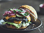 Portobello cheeseburger