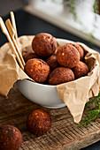 Keto fried cheese balls
