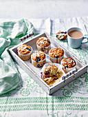 Bananen-Heidelbeer-Muffins