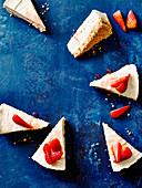 Peanut butter strawberry cheesecake