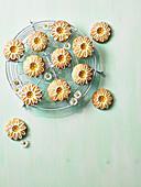 Thumbprint lemon daisy cookies