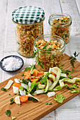 Homemade vegetable broth seasoning